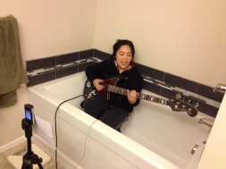 recording-in-the-bathroom