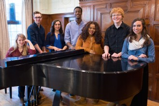 Webster University - Students Around Piano