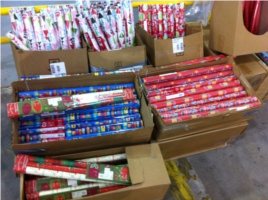 CPS gift wrap sale Franklin