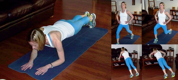 mom at home exercises new year resolution