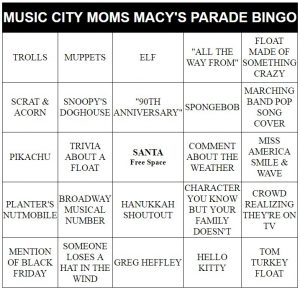 family fun on Thanksgiving bingo cards