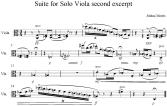 Suite for Solo Viola second excerpt