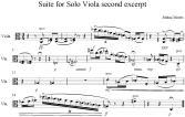 Suite for Solo Viola second excerpt
