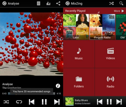 Mixzing android music player apps template