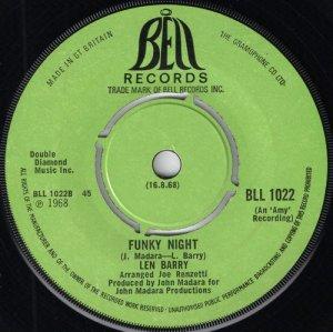 Len Barry - Funky Night, Bell UK 1968