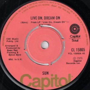 Sun - Live On Dream On, Capitol UK
