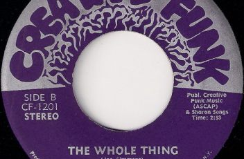 Creative Funk & Veedette Williams - The Whole Thing, Creative Funk 7""