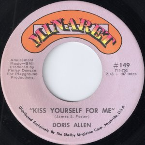 Doris Allen - Kiss Yourself For Me, Minaret 7""