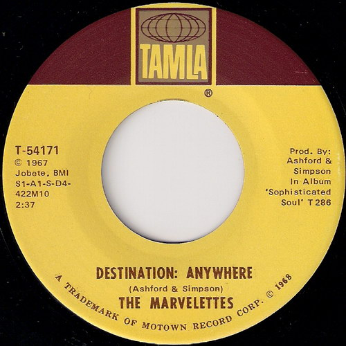 The Marvelettes - Destination Anywhere, Tamla 45