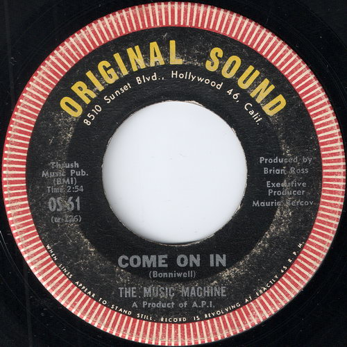 The Music Machine - Come On In, Original Sound 7""