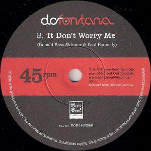 DC Fontana - It Don't Worry Me, Heavy Soul 45