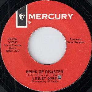 Lesley Gore - Brink Of Disaster, Mercury 45