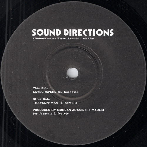 Sound Directions - Skyscrapers, Stones Throw Records 45