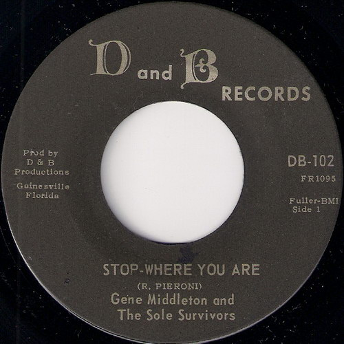 Gene Middleton & The Sole Survivors - Stop-Where You Are, D and B 45