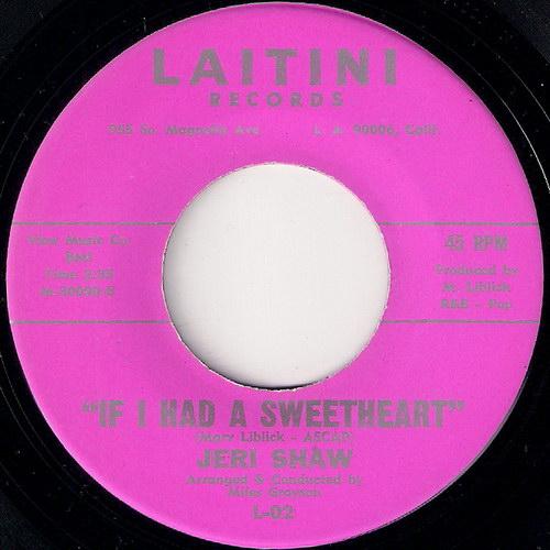 Jeri Shaw - If I Had a Sweetheart, Laitini 45