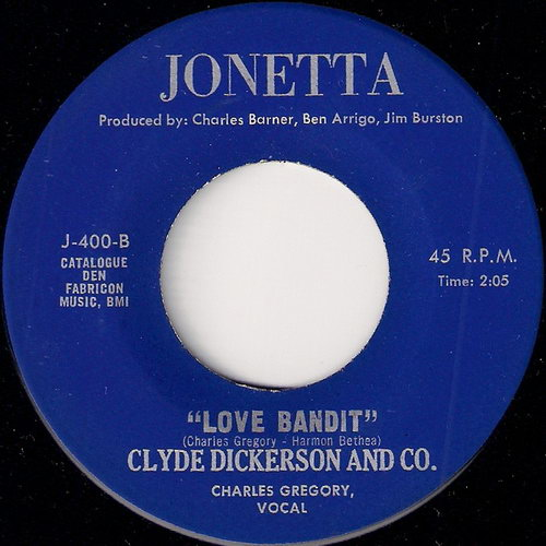 Clyde Dickerson And Co. - Love Bandit, Jonetta 45