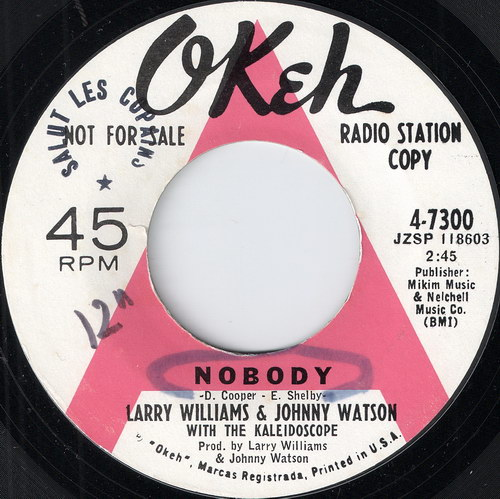 Larry Williams & Johnny Watson - Nobody, Okeh 45