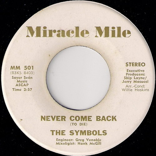 The Symbols - Never Come Back, Miracle Mile 45