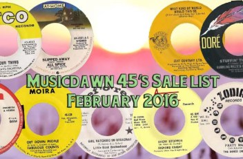 Musicdawn February 2016 45's Salelist