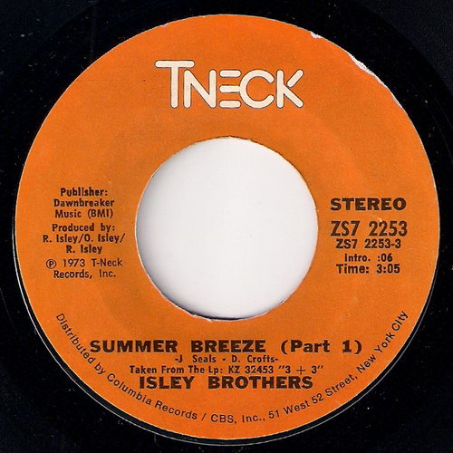 Isley Brothers - Summer Breeze (Part 1), T-Neck 45