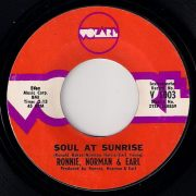 Ronnie, Norman & Earl - Soul At Sunrise, Volare 45