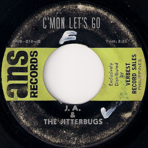 J.A. & The Jitterbugs - C'Mon Let's Go (Ans Records)