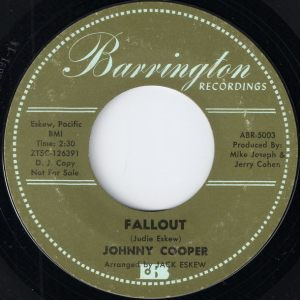 buy vinyl 7 Johnny Cooper - Fallout [Barrington]