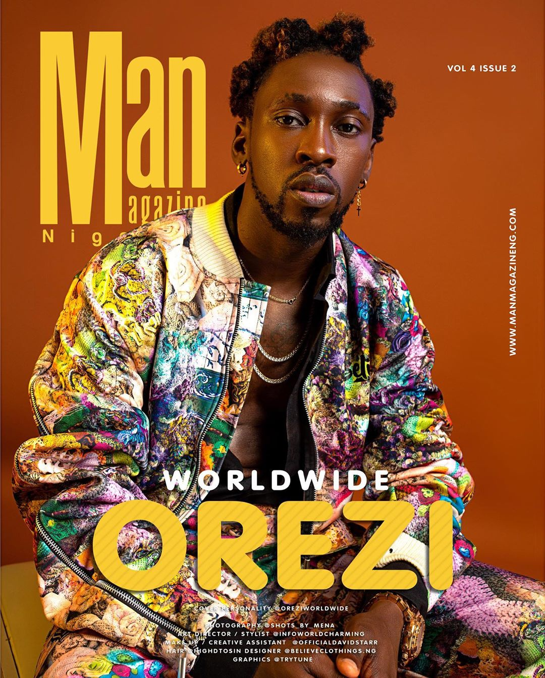 Orezi Looks Dapper on the Cover of Man Magazine Nigeria's Latest Issue