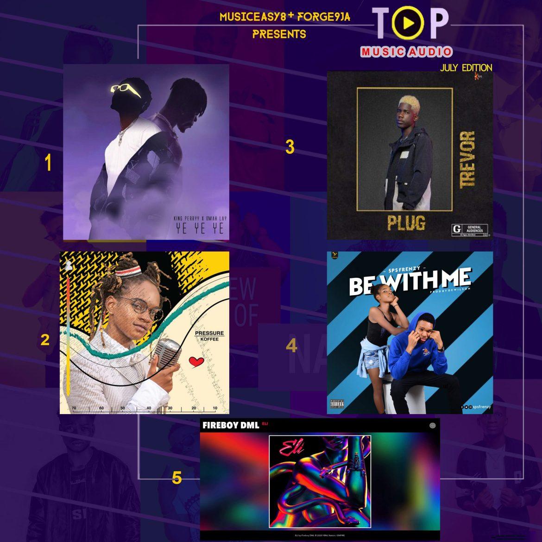 TOP 5 HOT MUSICEASY8 SONGS OF  JULY 2020