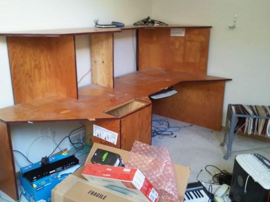 Red Flame custom studio desk