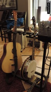 Various instruments - recording in the studio
