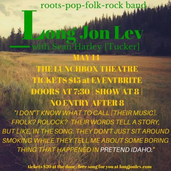 Long Jon Lev concert at Lunchbox Theatre