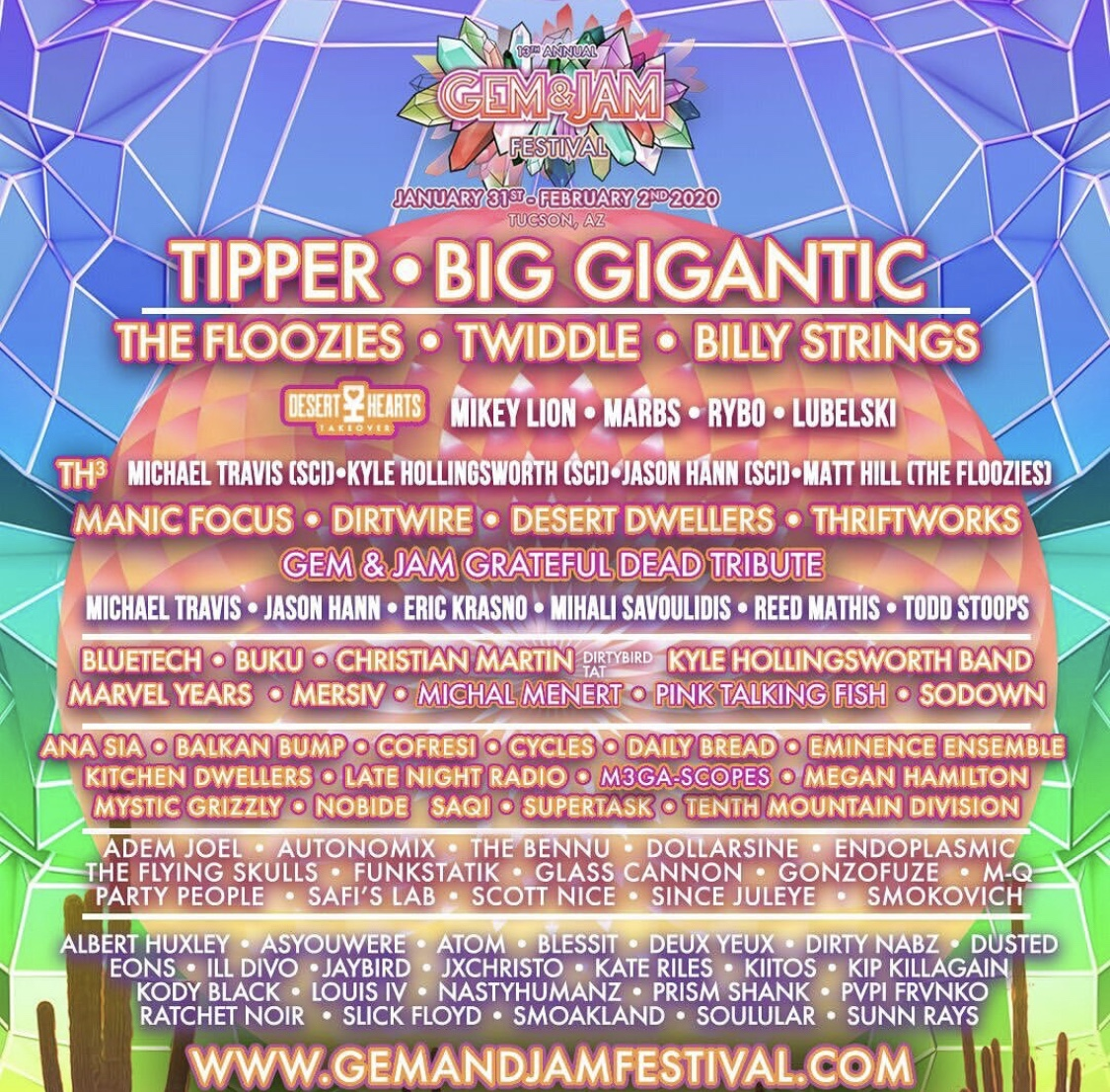 Gem & Jam in Arizona to start off the 2020 Festival Season