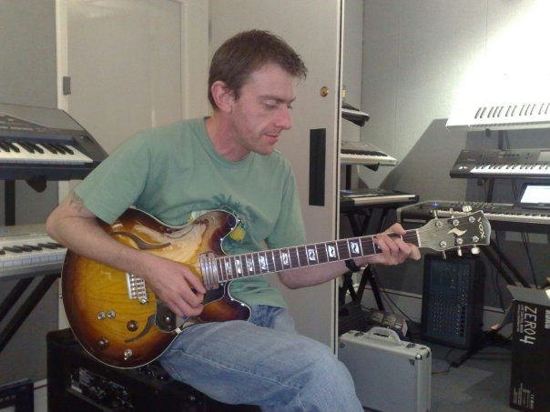Mike with Vox Razorlight Guitar