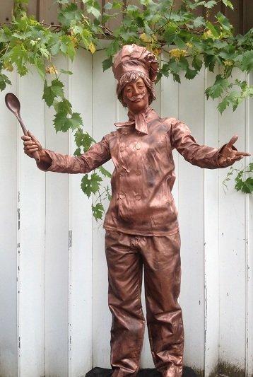 Bronze Chef Statue
