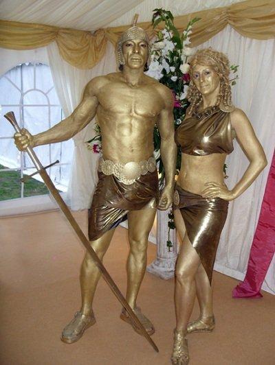 Spartacus & Roman Girl Statue