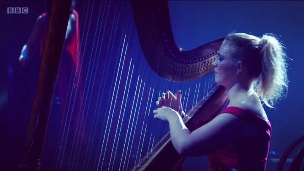 Harpist in Buckinghamshire performing on BBC
