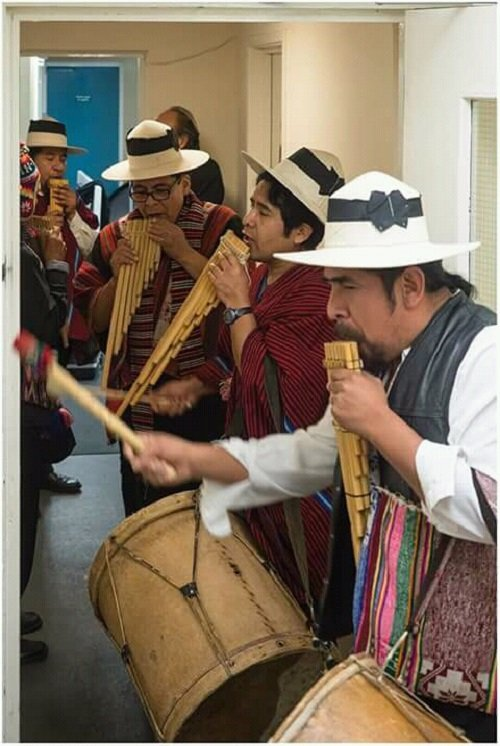 Bolivian, Peruvian, Andean Pan Pipe Band.