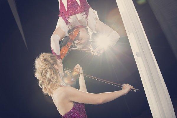 Ariel Silk and Violin Duo Act