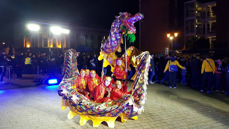 Chinese Dragon Dancers in London