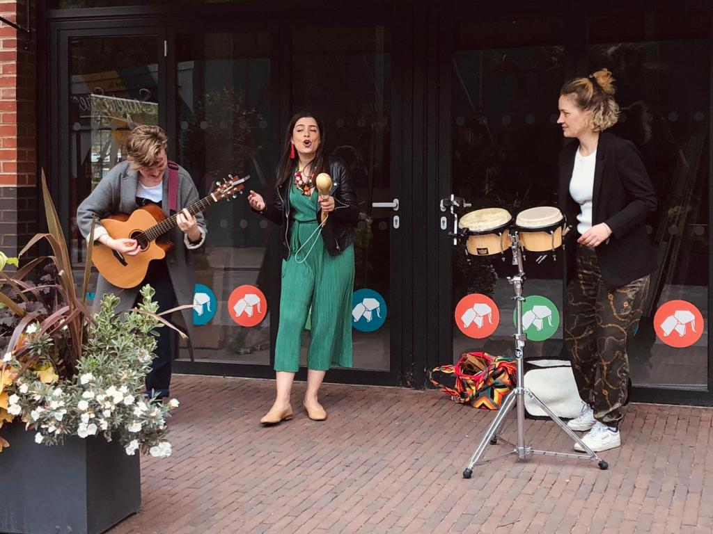 Professional Latin Busking Band and Street Musicians.