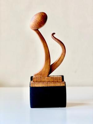 Бронзова музикална статуетка осмина нота награда песен музика