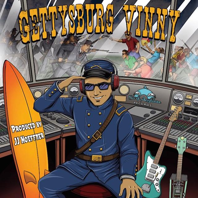 """Gettysburg Vinny"" from 'Beachfront Vinny' features trop rock, Americana, surf guitar and harmonies"