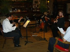 A small quartet playing at the Music House Museum - This is the caption field.