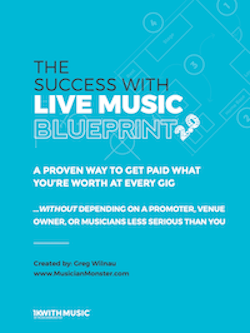 the success with live music blueprint 2.0 mockup