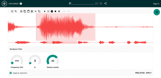 Hya-Wave is an online editor that is free to use and brand new in 2015