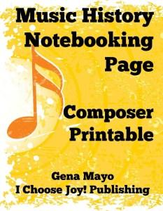 Free Music History Composer Printable