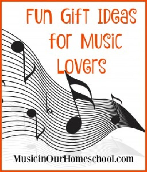 Fun Gift Ideas for Music Lovers ~ You'll love these gift ideas for the music lovers in your life. #musicinourhomeschool #musicgiftideas