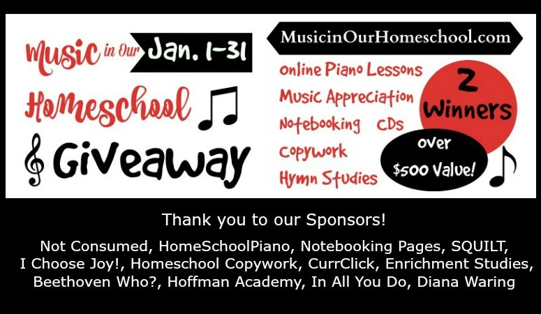 """The """"Music in Our Homeschool"""" Website Launch Giveaway- worth over $500! (Day 2)"""