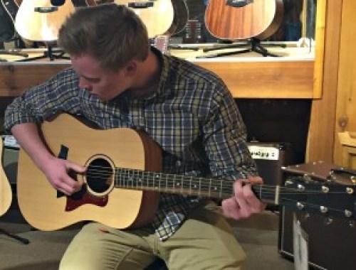 playing guitar musicinourhomeschool